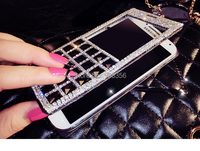 Luxury Bling Rhinestone Diamond Flip Cover for samsung galaxy S5 S4 i9600 leather wallet phone case cover