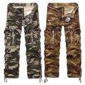 2016 Famosos dos homens Homem Homens Carga Calças Táticas Militares Calças de Camuflagem Macacões Macho Casuais Calças Tamanho Grande Tamanho grande 40