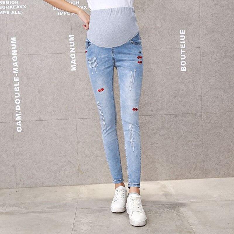 Maternity Clothes Maternity Skinny trousers pregnancy Capris Maternity Pants For Pregnant Women Gestante Pantalones Full Length