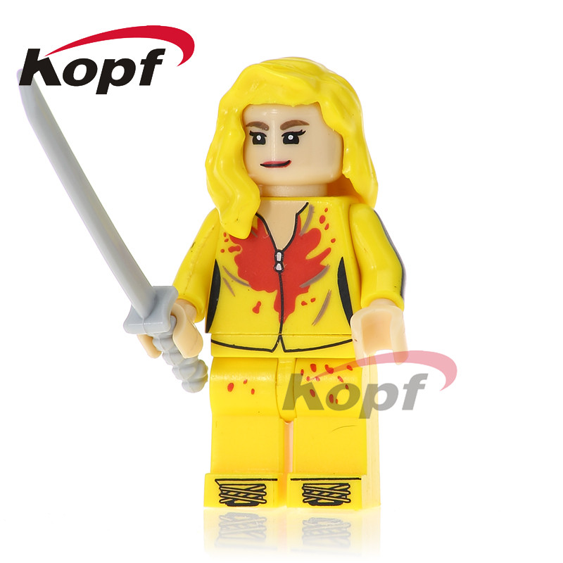 Single Sale Kill Bill Vol.1 Uma Thurman The Bride FBI Agent Super Heroes Building Blocks Collection Children Gift Toys KL074 саундтрек саундтрек kill bill vol 2