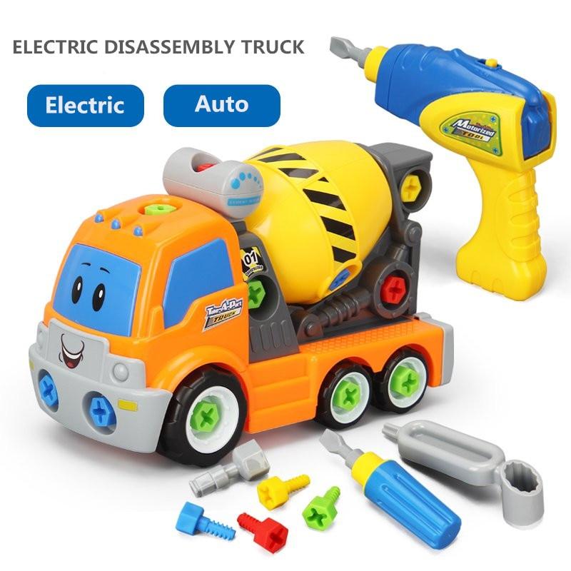 100% Wahr Kinder Pädagogisches Demontage Ingenieur Lkw Kinder Montage Schraube Auto Elektrische Spielzeug Lkw Beste Geschenk