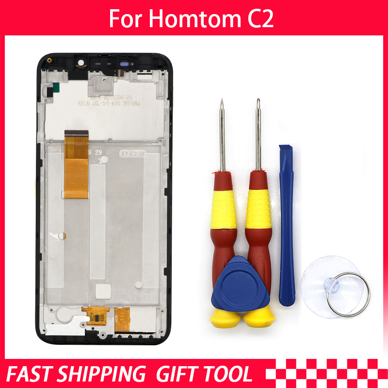 Touch Screen LCD Screen LCD Display For Homtom C2 Digitizer Assembly With Frame Replacement Parts+Repair ToolTouch Screen LCD Screen LCD Display For Homtom C2 Digitizer Assembly With Frame Replacement Parts+Repair Tool