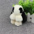 Real Mink fur keychain rabbit doll Doll Key Chain Charm Golf Bag Wallet Pom pendant Pom Car Pendant Natural Mink Rabbit MZ064