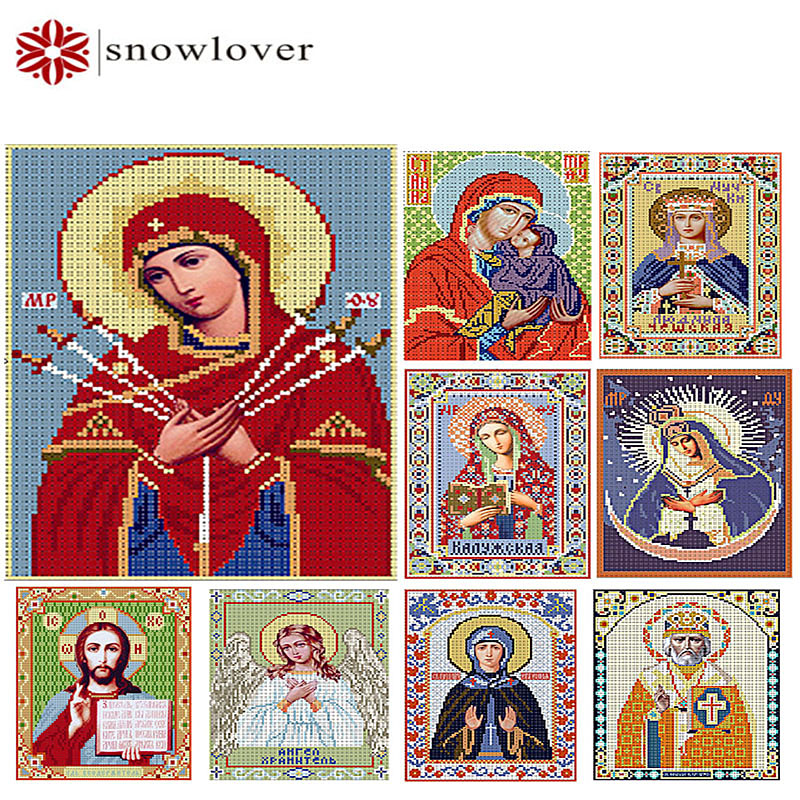Snowlover,beads,Needlework,DIY,bead Cross stitch ,Embroidery stitch,Precise Printed painting,portrait Pattern cross,Gods