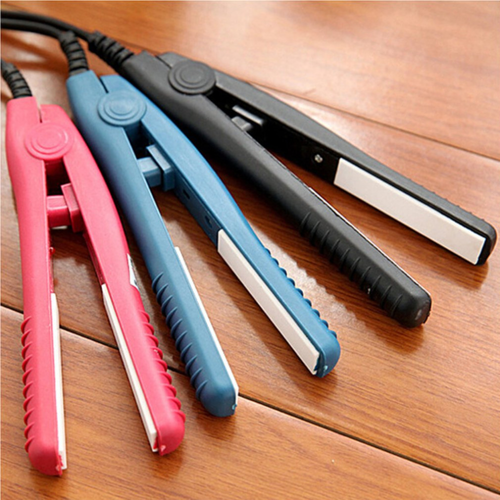 New Mini Hair straightener Iron Pink Ceramic Straightening Corrugate Curling Iron Styling Tools Hair Curler Tools mini curls hair straightener flat iron fast warm up ceramic electronic titanium straightening corrugated curling styling tools