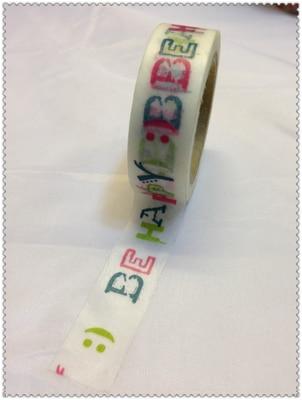 Schöne Hohe Qualität Washi Papier Band/15mm * 10 M Schöne Farbe Werden Glücklich Masking Japan Washi Band Mild And Mellow