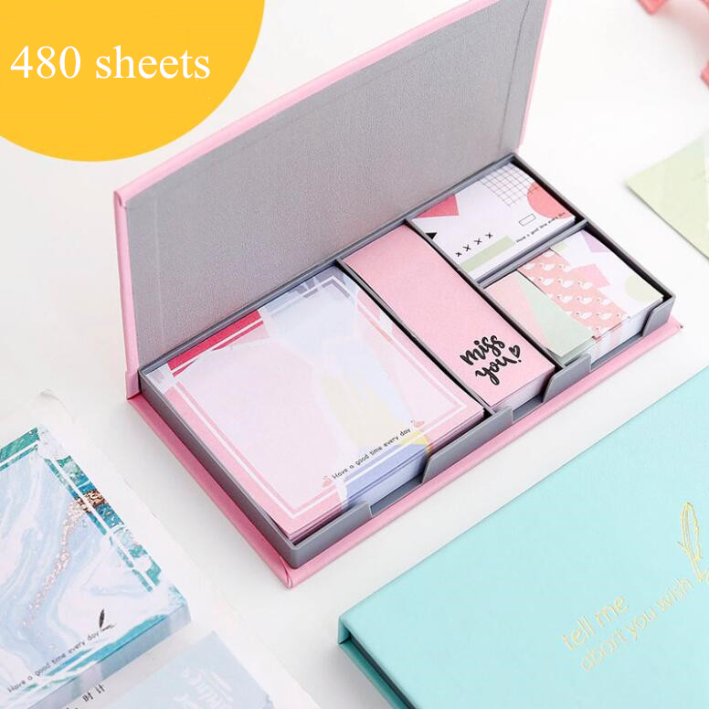 480 Sheets Simple Cartoon N Times Sticky Memo Notes Study Notepad To Do It Diary Weekly Planner Tab Message Marker Stationery
