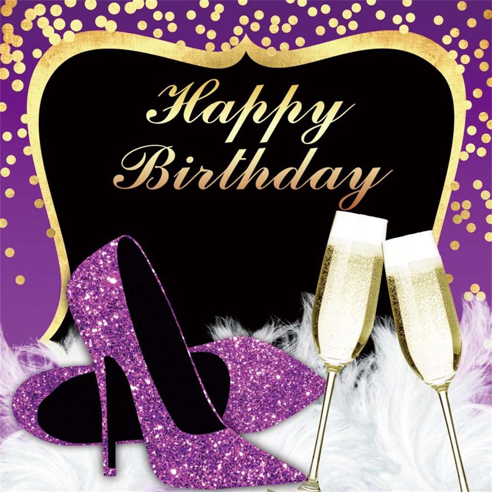 Yeele High Heels Shoes Champagne Photographic Backdrops Birthday Party Customized Photography Backgrounds For The Photo Studio