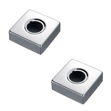 1 pair bathroom mixer sink Shower faucet chrome stainless steel bending square angle hole cock cover plate SV055