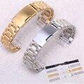 DAHASE 14mm 16mm 18mm 19mm 20mm 21mm 22mm 24mm Sólida Clássico Inoxidável Steel Watch Strap Banda Pulseira Frete Grátis