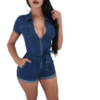 Sexy Sheer Mesh Bodysuit Jumpsuit Summer Body Even Hat Zipper Long Sleeve Rompers Womens Jumpsuits for Women 2018 New