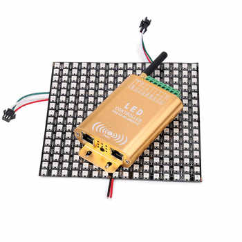 wifi connection SPI controller, 2048 pixel LED digital addressable controller, dream color strip light controller with micphone