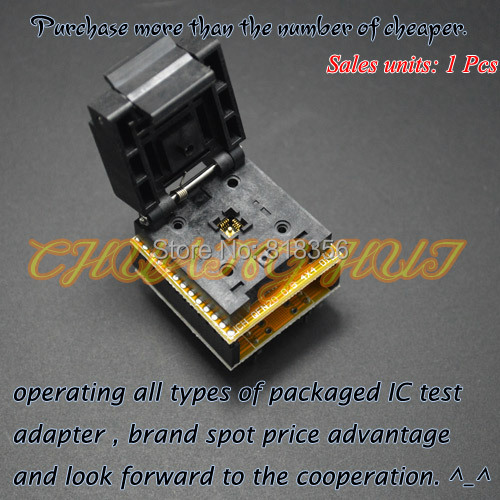 IC TEST QFN20 to DIP20 Programmer Adapter DFN20 MLF20 WSON20 test socket Pitch=0.5mm Size=4mm*4mm