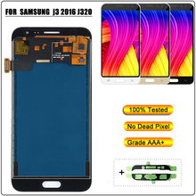 Screen Replacement for Samsung Galaxy J3 2016 J320 J320FN J320H LCD Touch Screen Display Digitizer Assembly Can Adjust Brighness цена