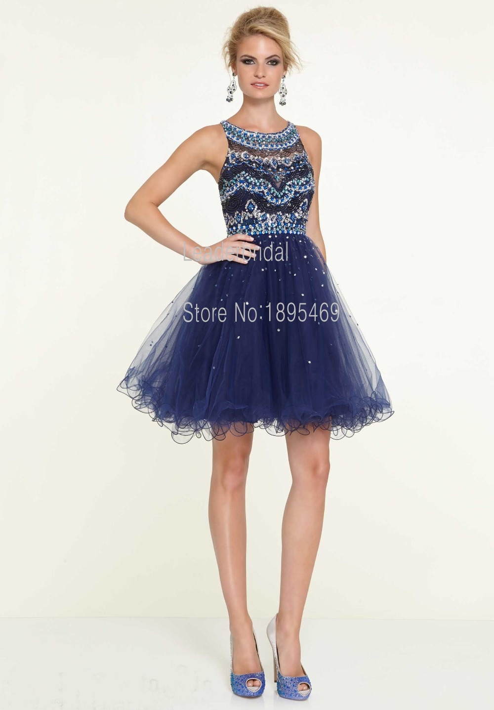 Online Buy Wholesale blue sequin cocktail dress from China blue ...