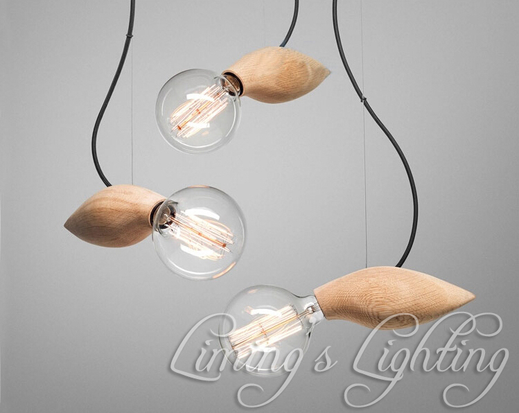 EDISON Native Wood Handmade Muuto E27 Bulbs Wooden Bar Chandelier Hanging LED Pendant Lamp Lights Lighting Bulbs Holder socket muuto предмет для хранения