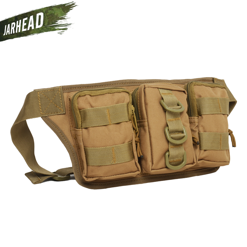 Army Military Waist Pack Bag Jungle Hunter Ranger CP Camo Waist Pocket Outdoor Tactical Sports Riding Waist Bag