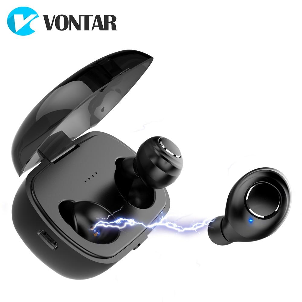 Bluetooth 5.0 TWS Sweat proof Mini Wireless Ear buds Twins Earphone Headphones With Battery Case Hands Free Headsets