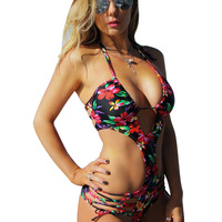 Bandage Swimsuit One Piece Swimming Suit 1