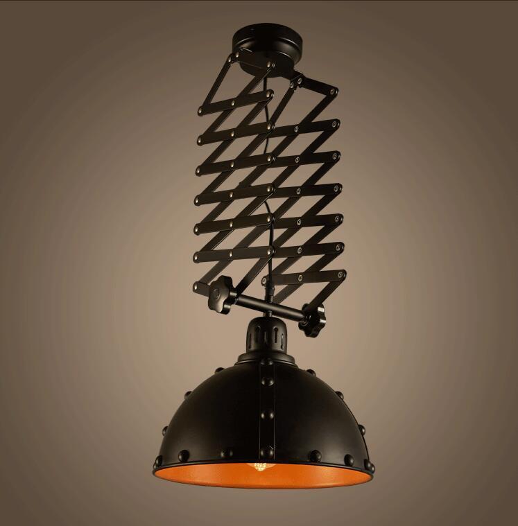 Deckenleuchten Gutherzig Nordic Vintage E27 Decke Versenkbare Lichter Eisen Skalierbarkeit Lampen Für Cafe Bar Esszimmer Restaurant Küche Beleuchtung Dekor
