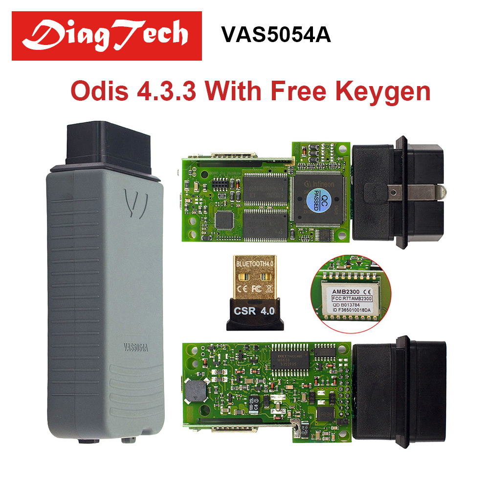 Original VAS5054A With ODIS V4.3.3 Free Keygen Bluetooth VAS 5054A Full Chip Odis V4.33 VAS 5054 UDS For VAG Diagnostic Tool newest vas5054a with oki keygen full chip vas5054 bluetooth odis 4 3 3