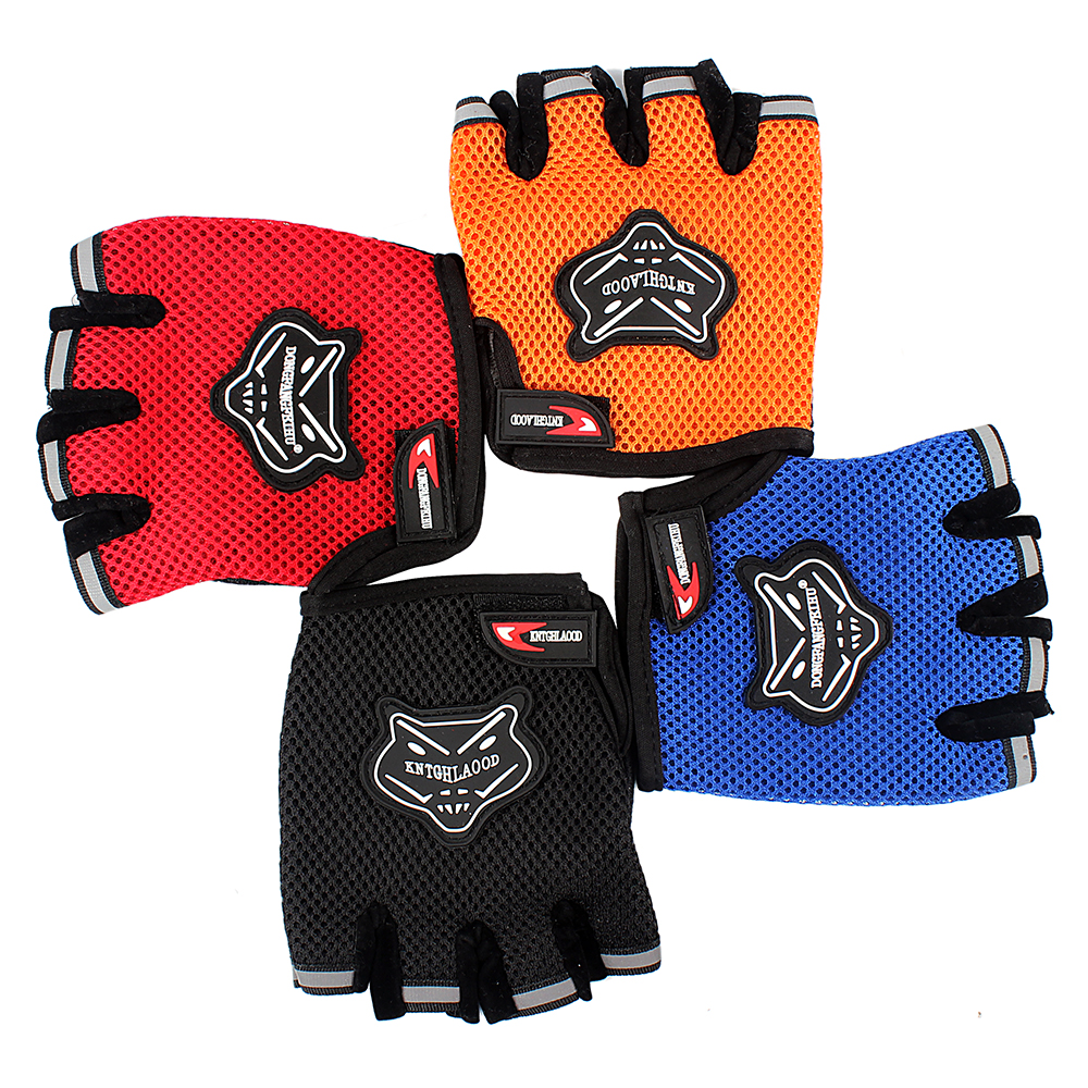 Motorcycle gloves price - Black Blue Red Orange Golve Breathable Motorcycle Gloves Half Finger Style Bicycle Protective Gears Men Women