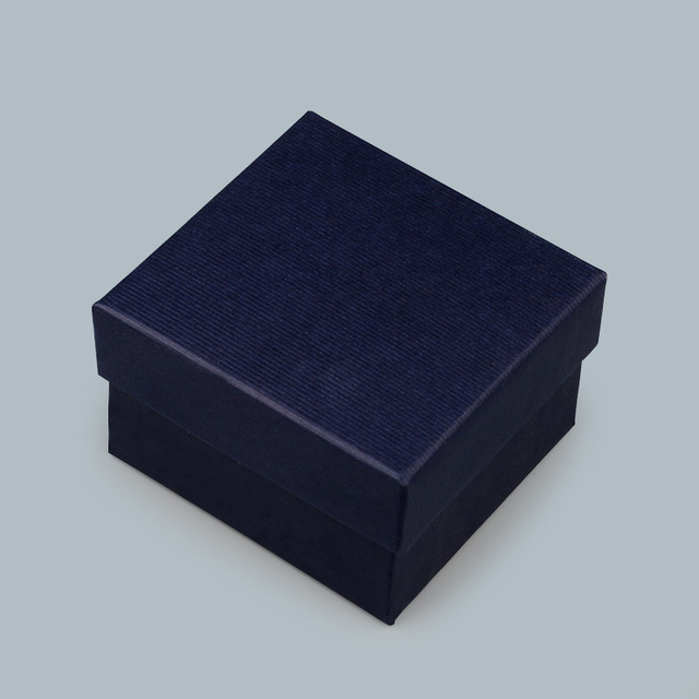 10PCs Cardboard Bracelet Box dark blue Jewelry Box Paper Ring