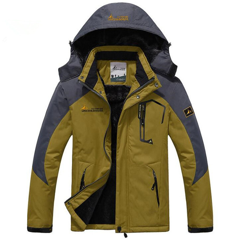 6XL Winter Men Outdoor Camping Climbing Skiing Jacket Sport Fleece Warm Waterproof Windproof Hiking Hunting Fishing Windbreaker super thick thermal fleece warm man winter jacket waterproof windproof jacket skiing snowboarding climbing hiking camping jacket