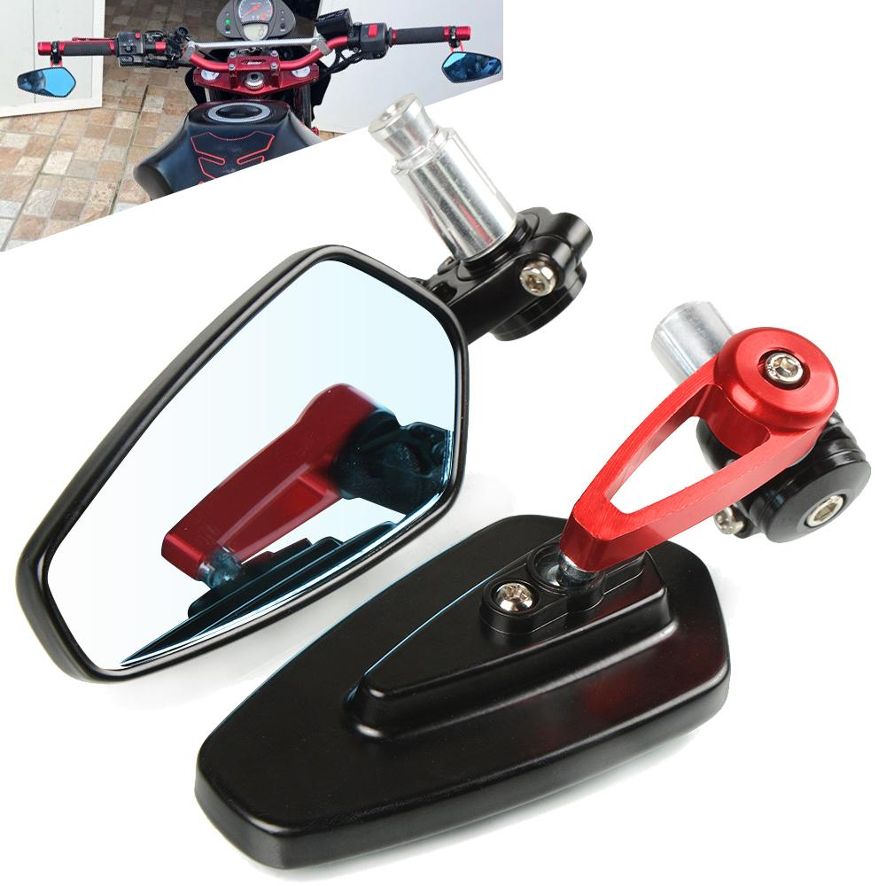 For Ducati 959 1299 Panigale 848 EVO Monster 696 821 797 1200 Diavel Scrambler Rear View Handle Bar End Side Rearview Mirrors