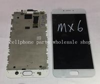 Amoled For Meizu MX6 Lcd Display With Touch Glass Digitizer Frame Assembly Replacement Parts
