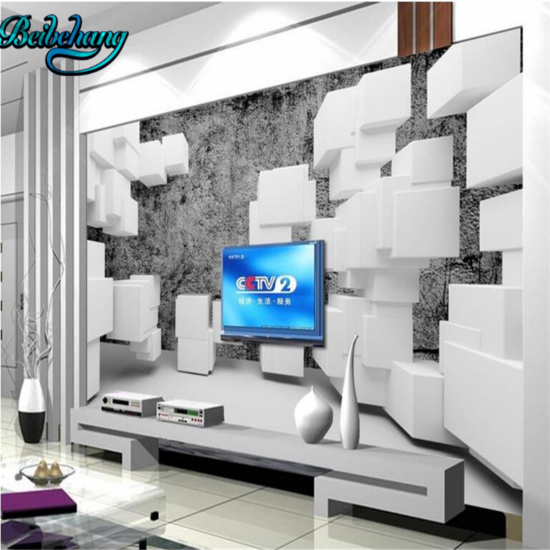 Tv Muur Decoratie.Us 8 85 41 Off Beibehang 3d Doos Retro Bakstenen Muur Tv Muur Decoratie Schilderen Aangepaste Behang Muurschildering Decoratie In Behang Van