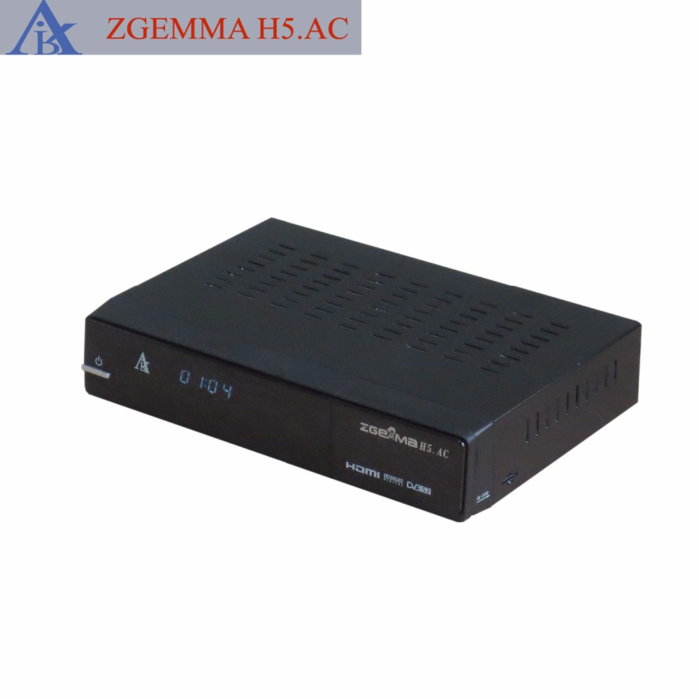2 pcs/lot New Enigma2 Linux DVB S2 + ATSC with H.265 KODI Zgemma H5.AC image