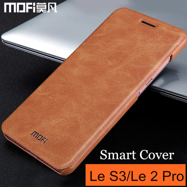 half off 7f0ec 7f99a US $9.89 10% OFF|MOFi Leeco Le S3 case x622 x626 Leeco Letv Le 2 Pro case  flip cover Le2 X620 x520 x526 x527 back cover leather smart cases-in Flip  ...
