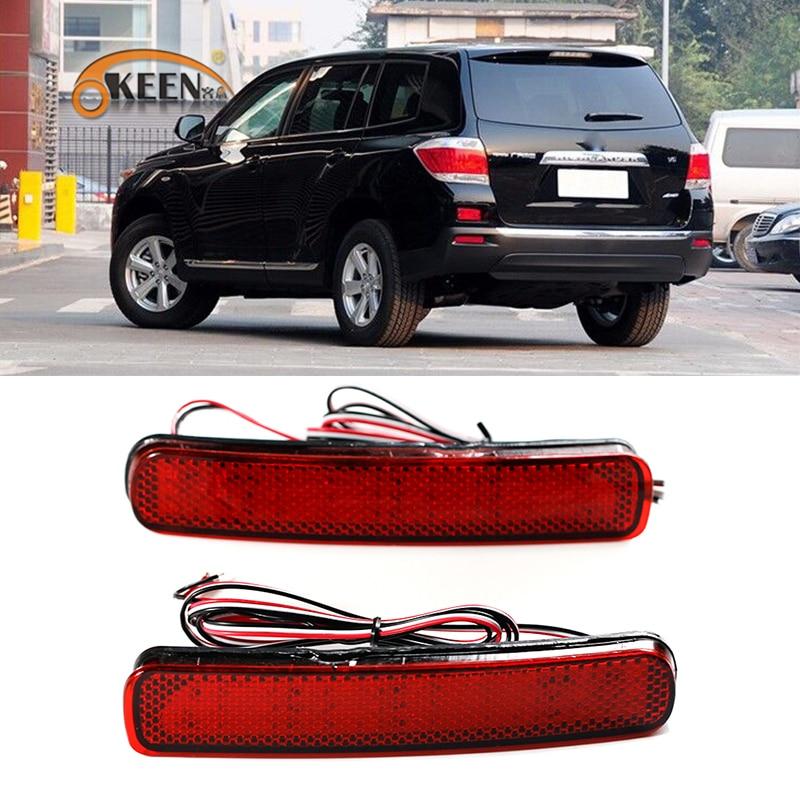 LED Rear Bumper Reflector Brake Turn Signal Light Fr Toyota Highlander 2015-2017