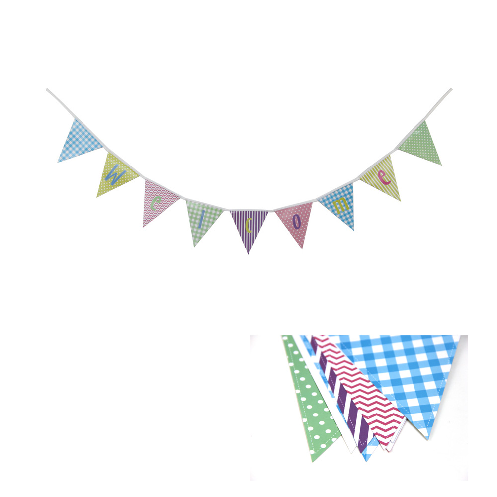 Pastel Welcome Banner Bunting Pennant Baby Shower ...