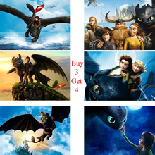 How To Train Your Dragon Posters Cartoon Wall Stickers White Coated Paper Prints Home Decoration Livingroom
