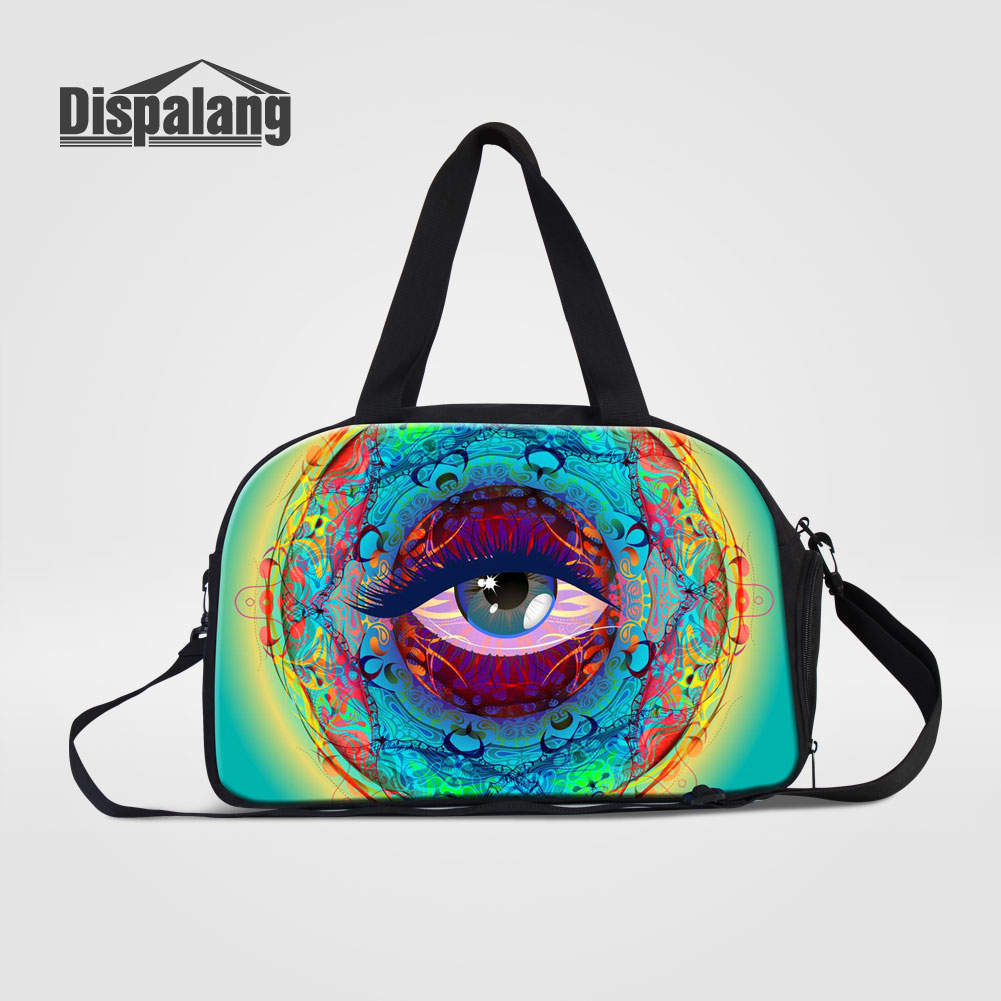 Dispalang Women Fashion Travel Bags Unique Design Eye Expression Duffle Bag For Teenage Girls Boys Mens Hand Luggage Weekend Bag