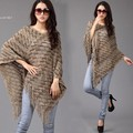 Fashion Cloak for Women Winter Sweater Batwing Sleeve Fringe Irregular Hem Loose Cover Up Tops Knitting 29