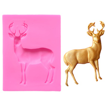 Lovely Cake Lace Deer Silicon Mould For Fondant Silicone Mold Jelly Pudding Wedding Stand Baking A1099