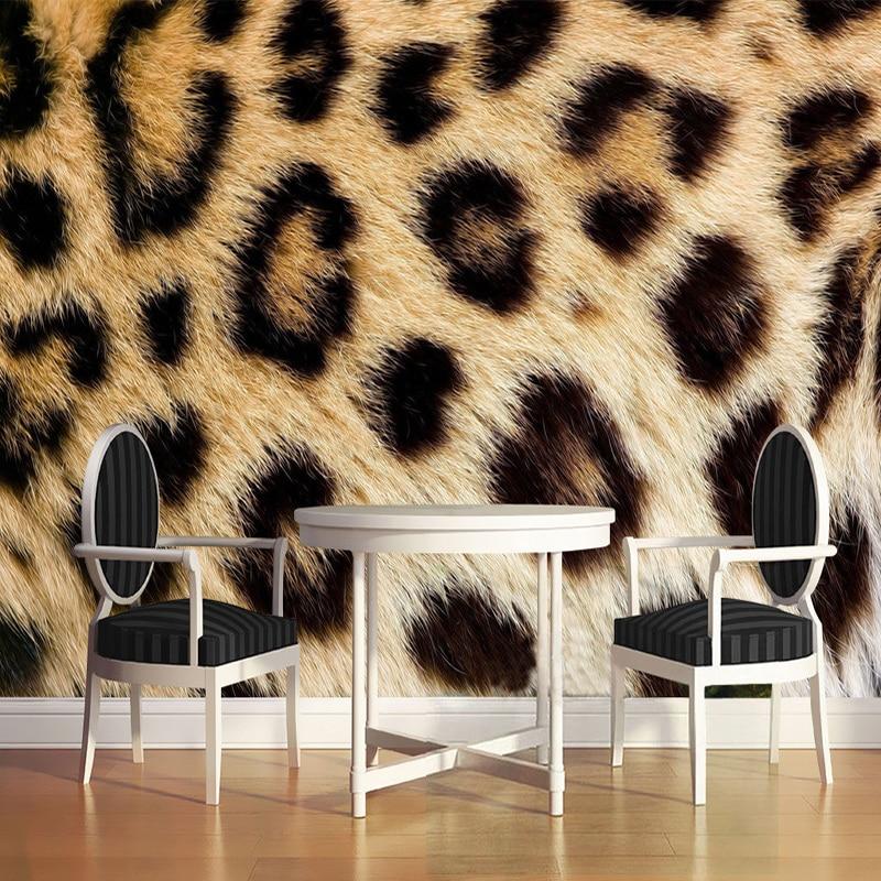 Personalized Customization Leopard Print 3D Photo Mural Wallpaper Restaurant Clubs KTV Bar Modern Fashion Decor Papel De Parede