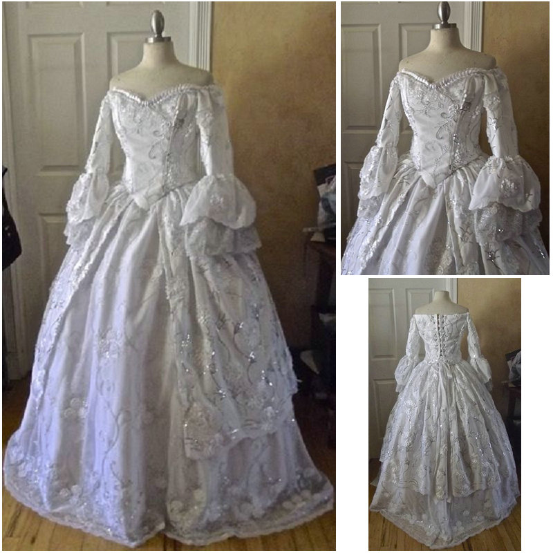 R-092 Victorian Gothic Civil War Southern Belle loose Ball Gown Dress  Halloween Vintage 96a6b8dd9c60