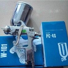 HVLP ПИСТОЛЕТ Воздушный Пистолет Автомобильная Краска Пистолет ручной пистолет W-101 1.0, 1.3 1.5 1.8 мм насадка С 400 МЛ Чашки Краской