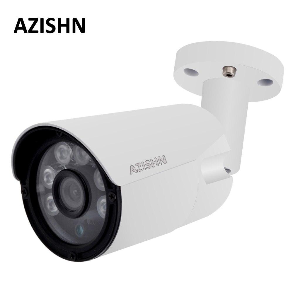 AZISHN 4MP IP Камера ONVIF H.265/H.264 25fps наружного наблюдения IP66 Металл CCTV Камера Hi3516D + 1/3 OV4689 6 шт. массив светодиодов