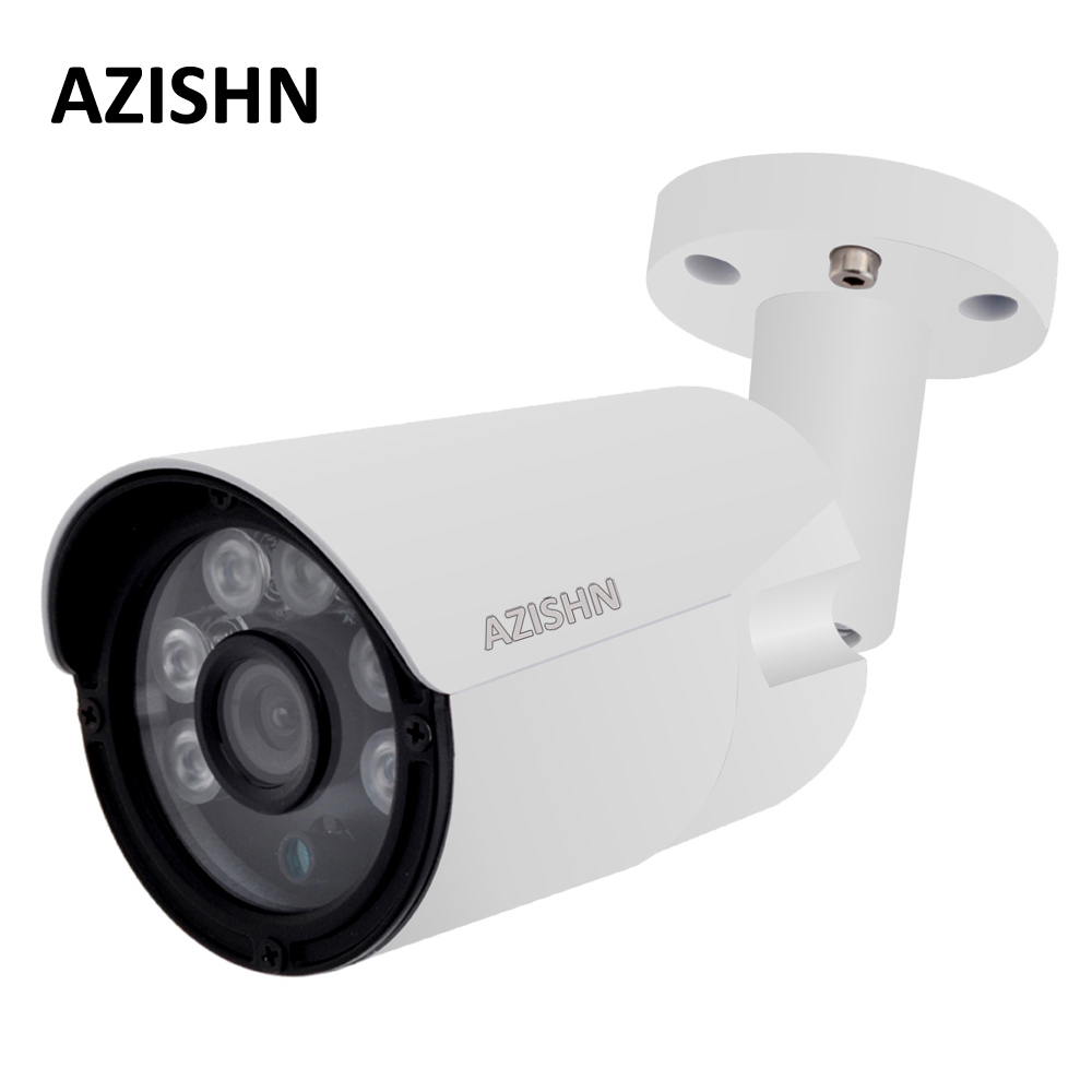 AZISHN 4MP IP Camera ONVIF H.265/H.264 25fps Surveillance Outdoor IP66 metal CCTV Camera <font><b>Hi3516D</b></font>+1/3