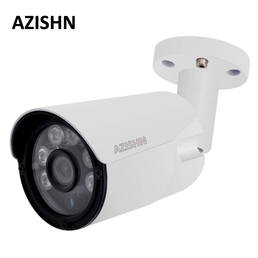 AZISHN 4MP IP Camera ONVIF H.265/H.264 25fps Surveillance Outdoor IP66 metal CCTV Camera Hi3516D+1/3