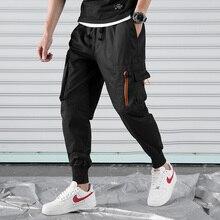 2019 cargo pants men trousers streetwear male casual fashion black hip pop Pants mens sweatpants