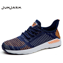 JUNJARM Spring New Men Shoes Lac-up Casual Lightweight Comfortable Breathable Couple Walking Sneakers Feminino Zapatos