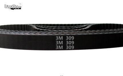 5 pieces/pack HTD3M timing belt length 309mm teeth 103 width 9mm rubber closed-loop 309-3M for shredder S3M 309 HTD 3M pulley