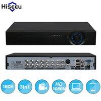 Hiseeu 2HDD 16CH AHD 1080N 3 in 1 DVRบันทึกวิดีโอกล้องอนาล็อกAHDกล้องIP P2Pระบบกล้องวงจรปิดDVR H.264 VGA HDMI