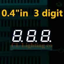 """20 штук 0."""" 0.4in. Белый светодиод Дисплей 7 segmentos светодиодный цифровой пробки 7-сегментный общий катод 3 Бит Цифровой Tube"""